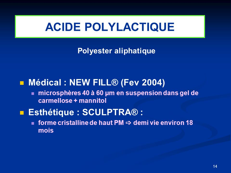 Polyester aliphatique