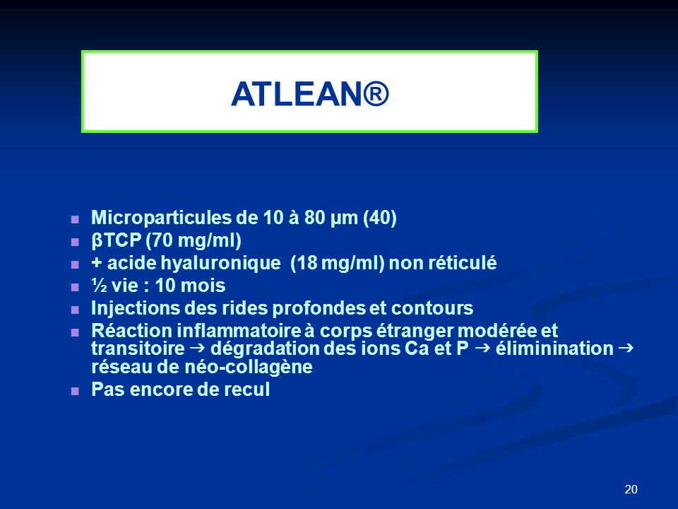 ATLEAN® Microparticules de 10 à 80 µm (40) βTCP (70 mg/ml)