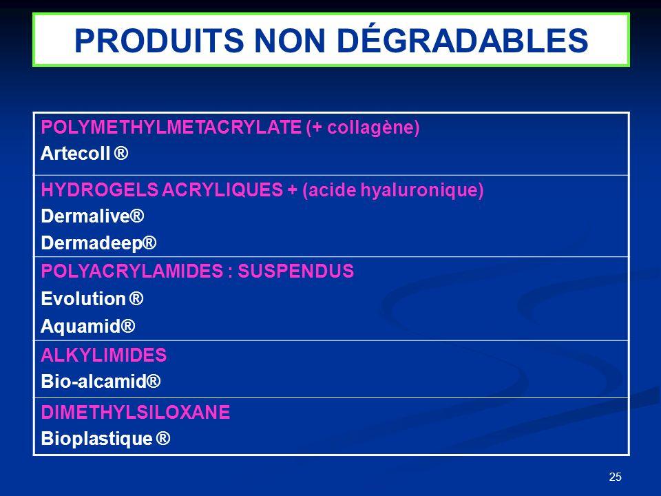 PRODUITS NON DÉGRADABLES