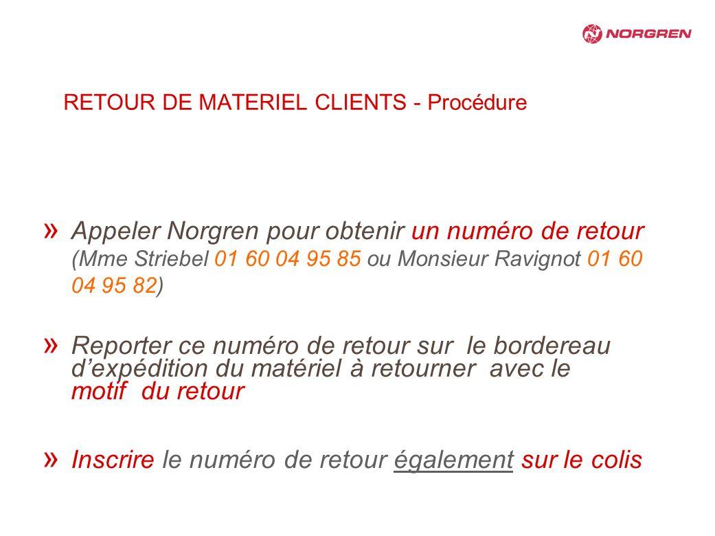 RETOUR DE MATERIEL CLIENTS - Procédure