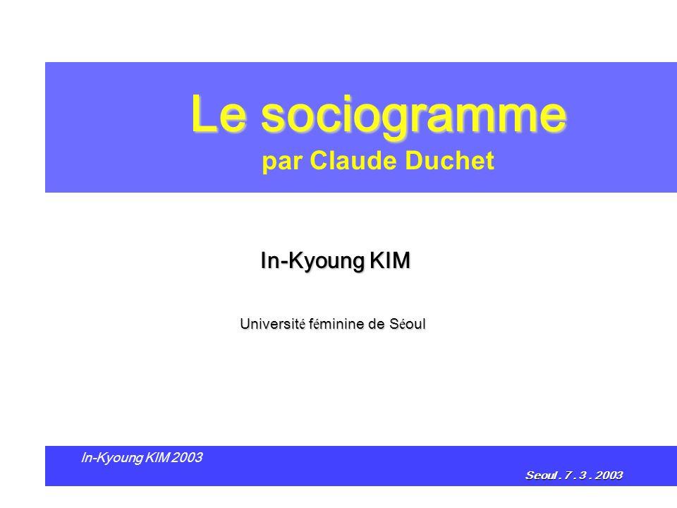 Le sociogramme par Claude Duchet