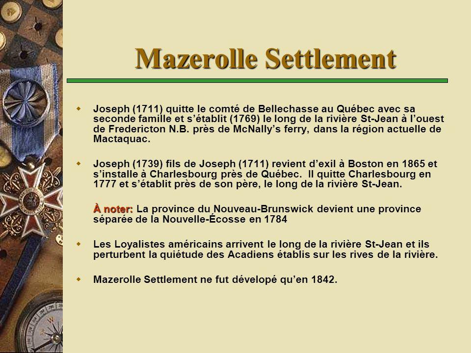 Mazerolle Settlement