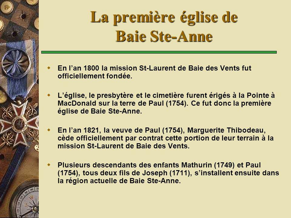 La première église de Baie Ste-Anne