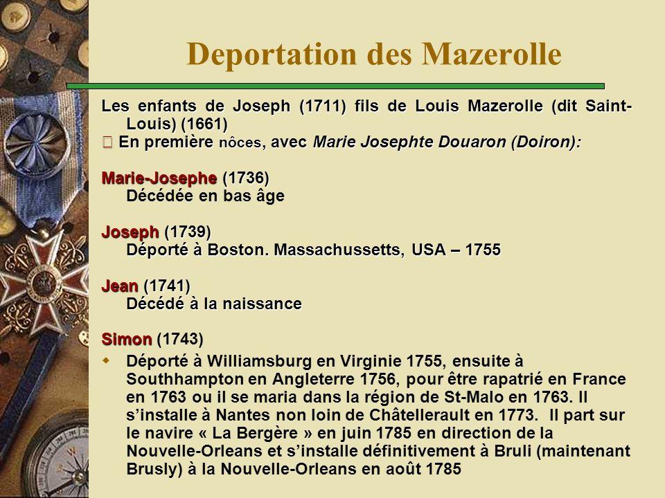 Deportation des Mazerolle