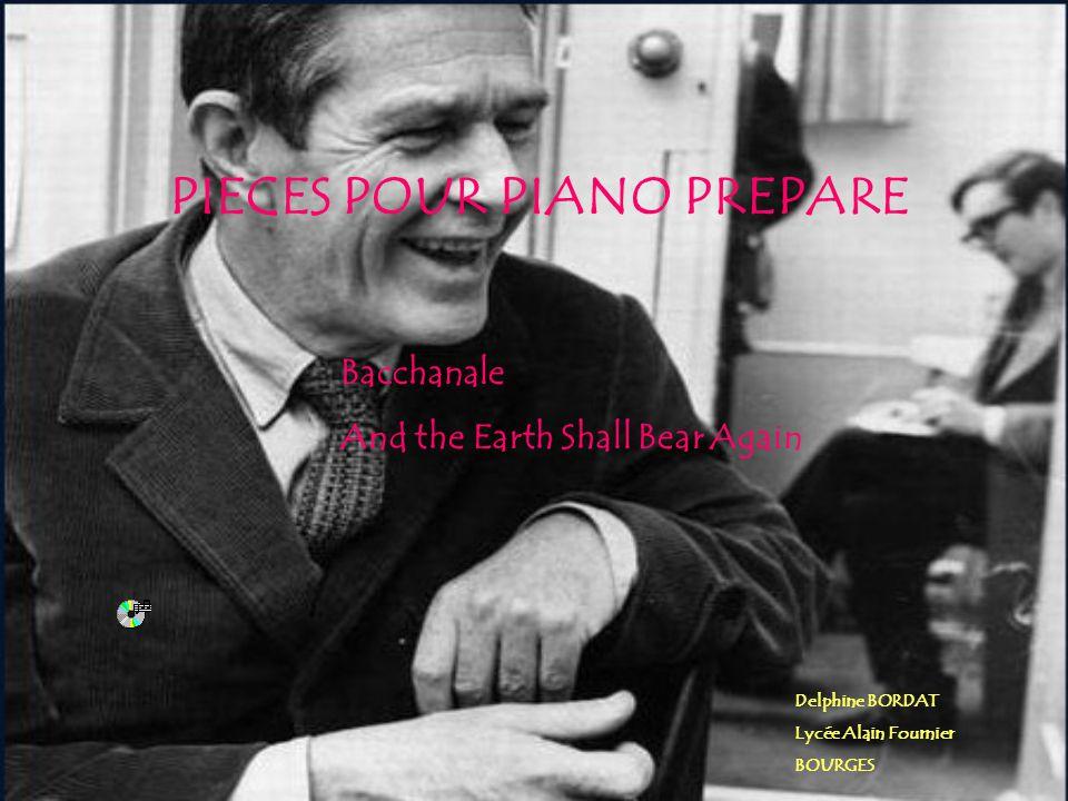 PIECES POUR PIANO PREPARE