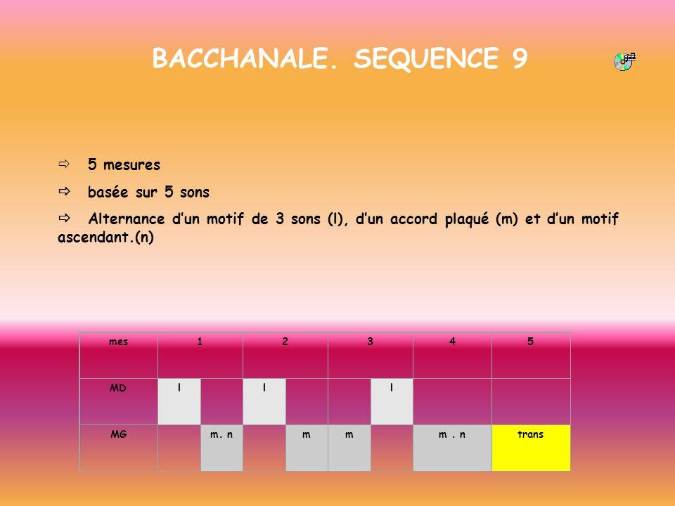 BACCHANALE. SEQUENCE 9 ð 5 mesures ð basée sur 5 sons