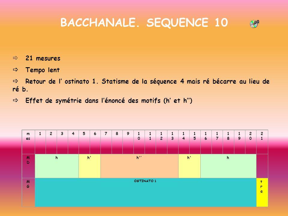 BACCHANALE. SEQUENCE 10 ð 21 mesures ð Tempo lent