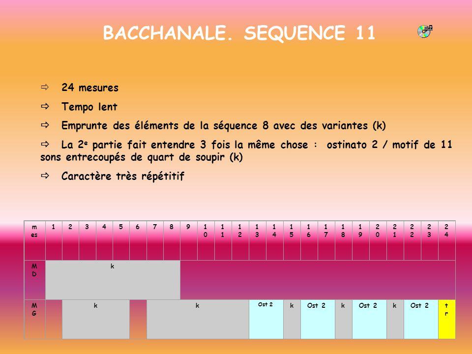 BACCHANALE. SEQUENCE 11 ð 24 mesures ð Tempo lent