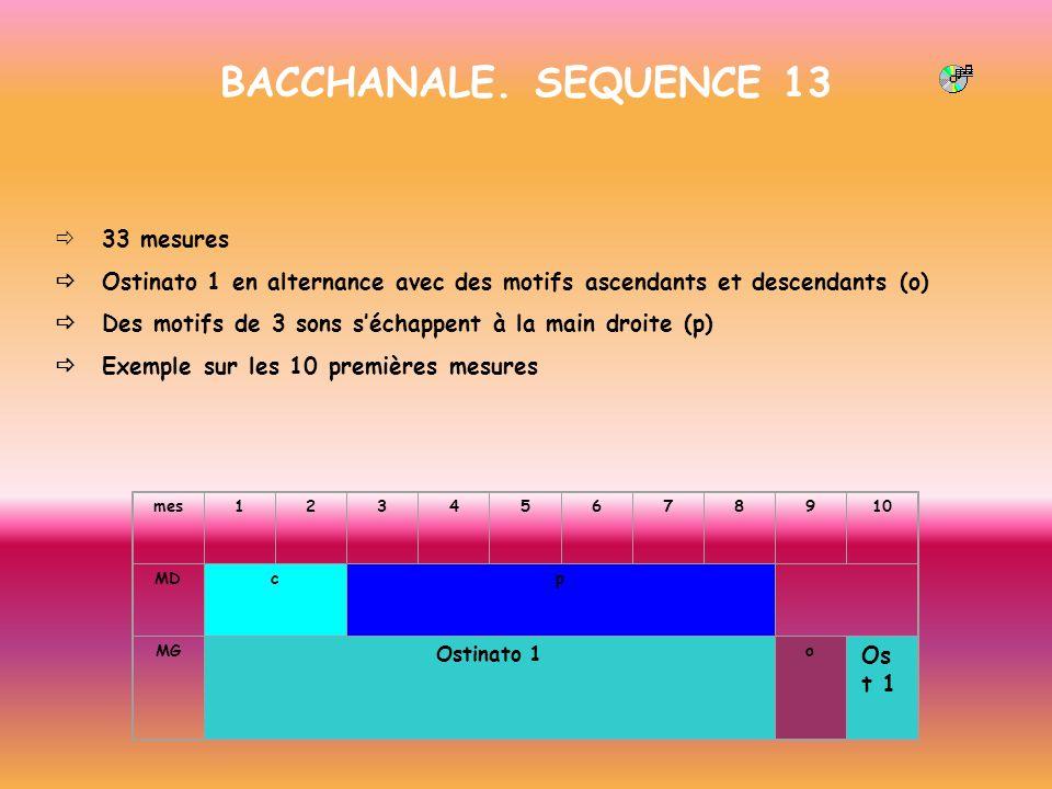 BACCHANALE. SEQUENCE 13 ð 33 mesures