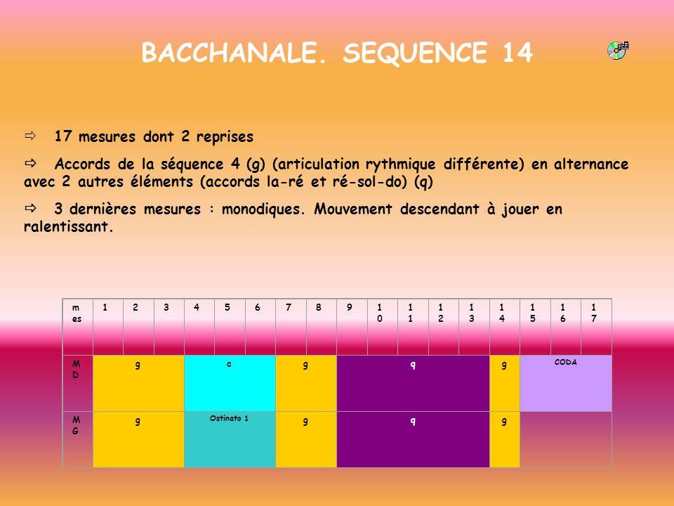 BACCHANALE. SEQUENCE 14 ð 17 mesures dont 2 reprises