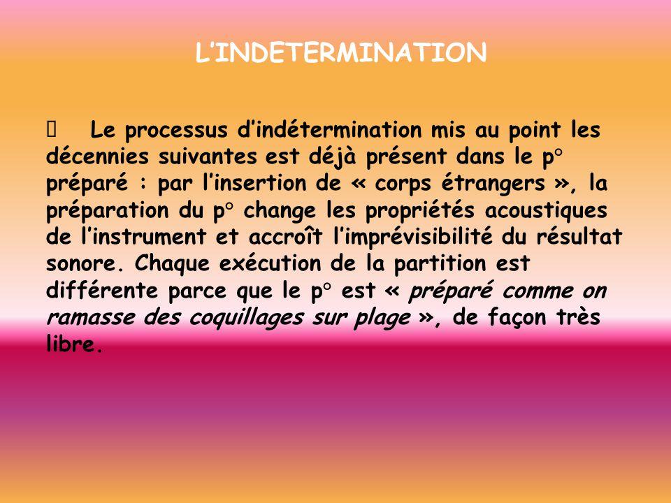 L'INDETERMINATION