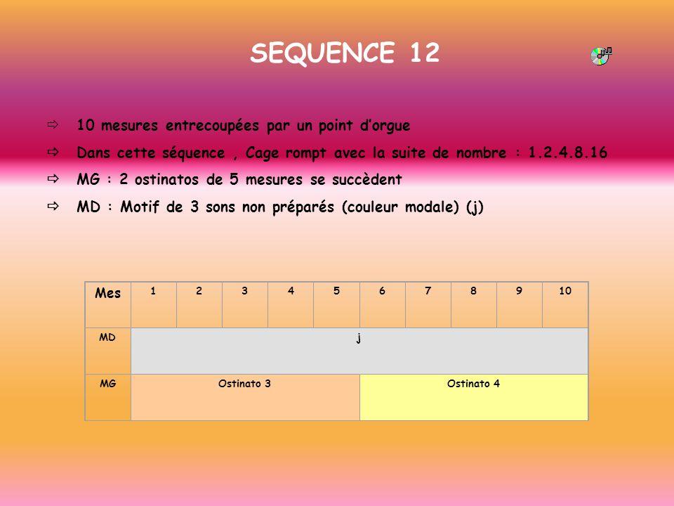 SEQUENCE 12 ð 10 mesures entrecoupées par un point d'orgue