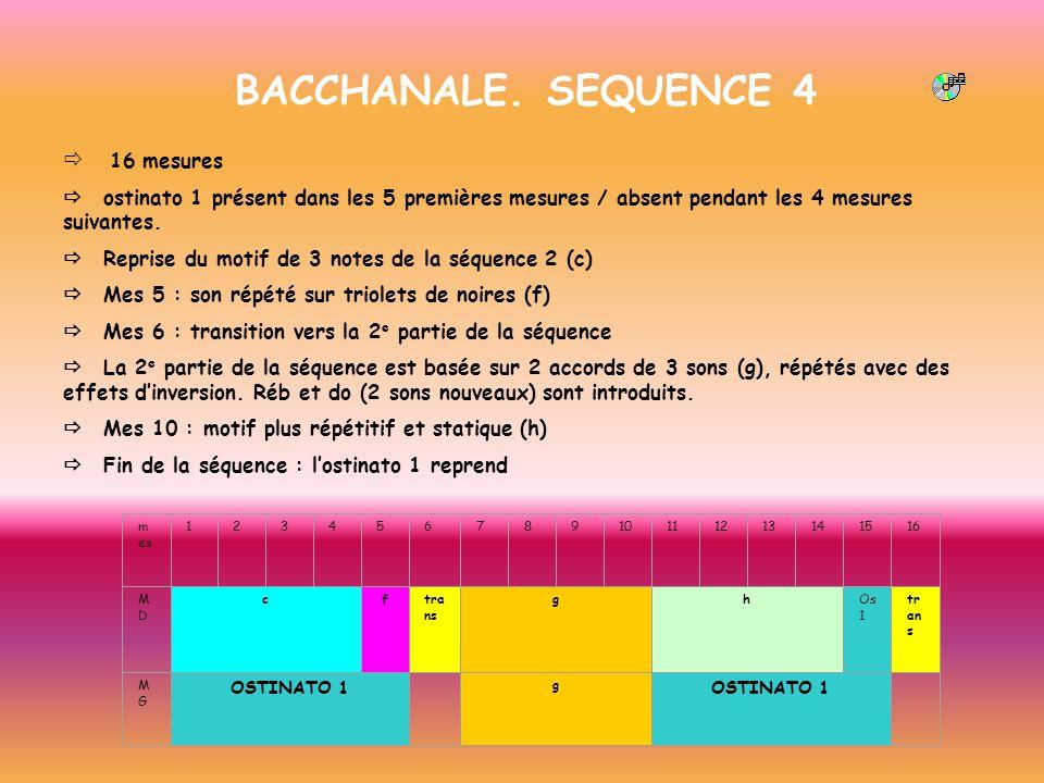 BACCHANALE. SEQUENCE 4 ð 16 mesures