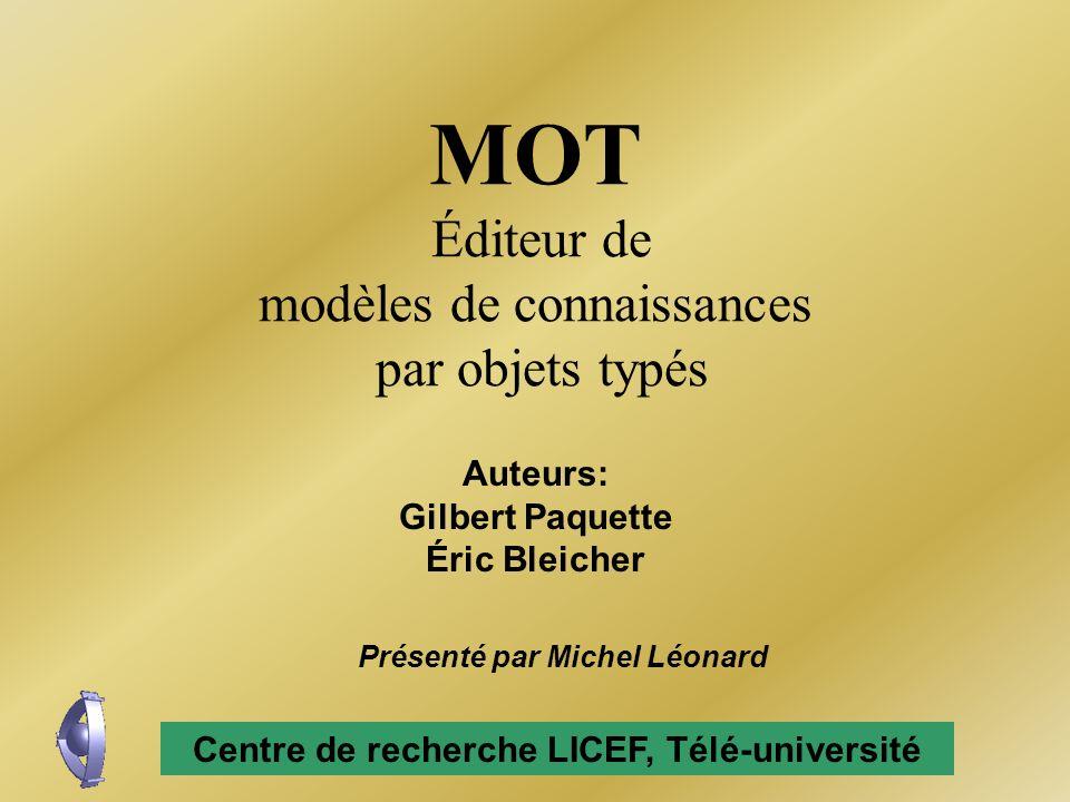 MOT Éditeur de modèles de connaissances par objets typés