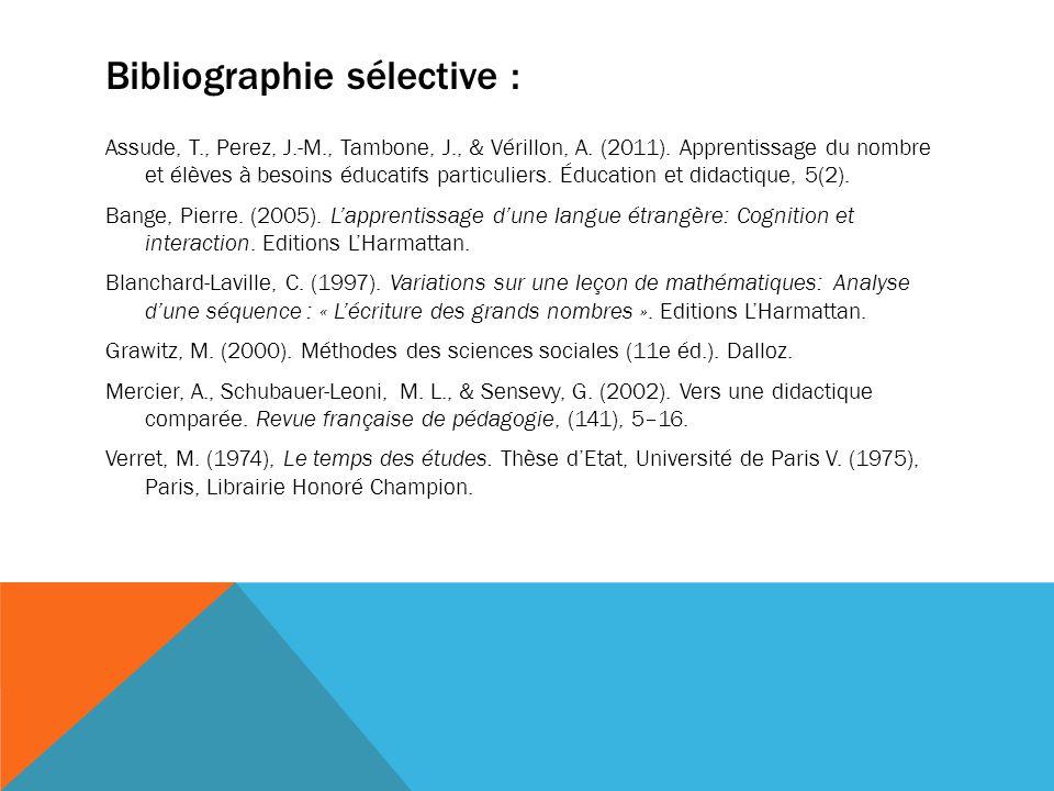 Bibliographie sélective :
