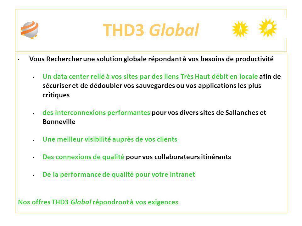 THD3 Global Vous Rechercher une solution globale répondant à vos besoins de productivité.