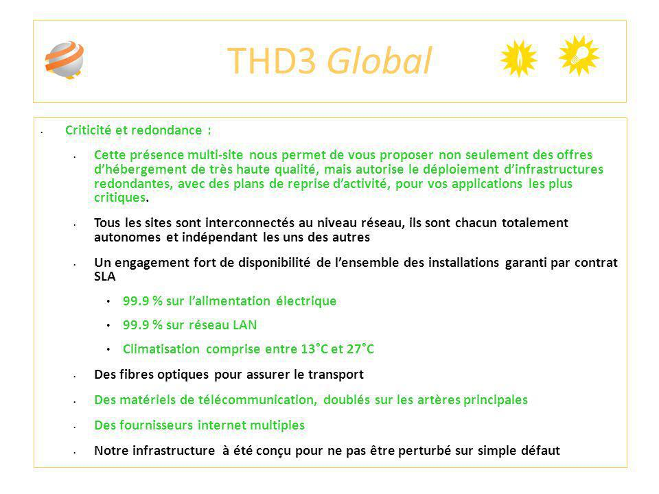 THD3 Global Criticité et redondance :