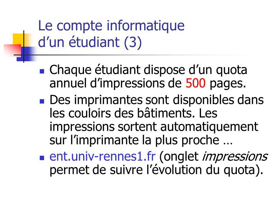 Le compte informatique d'un étudiant (3)