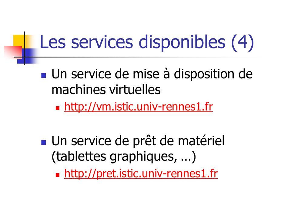 Les services disponibles (4)