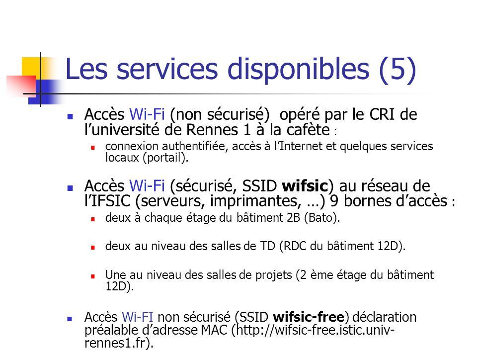 Les services disponibles (5)