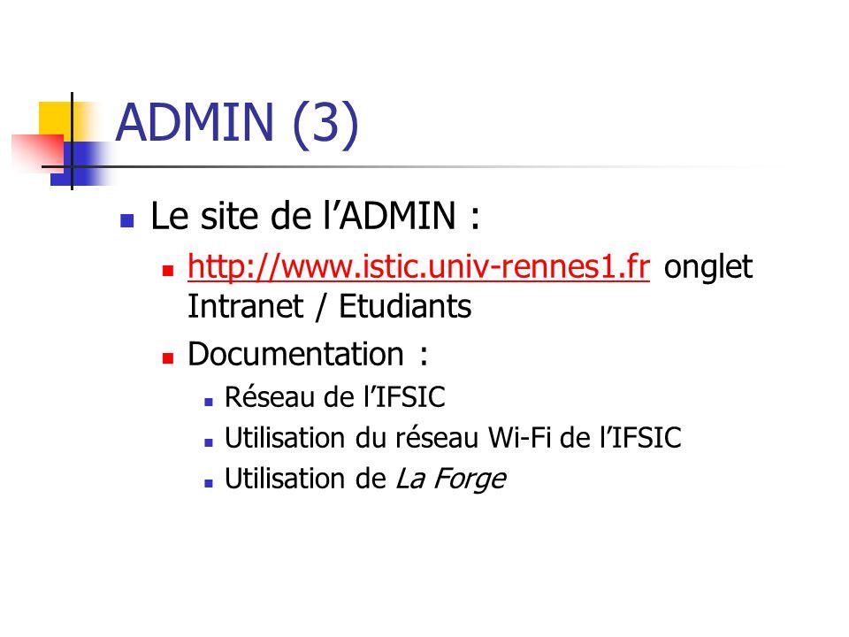 ADMIN (3) Le site de l'ADMIN :