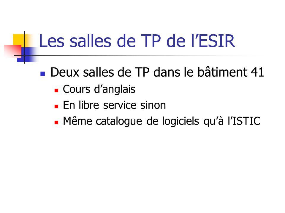 Les salles de TP de l'ESIR