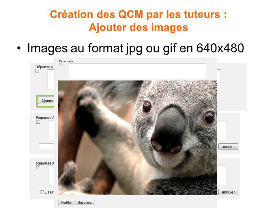 Création des QCM par les tuteurs : Ajouter des images