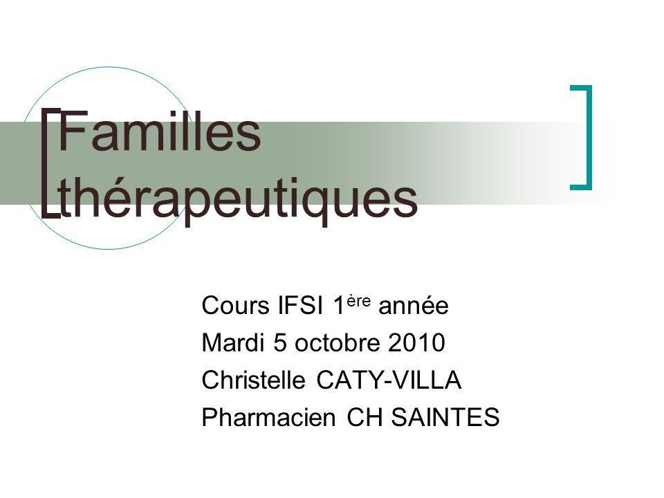 Familles thérapeutiques
