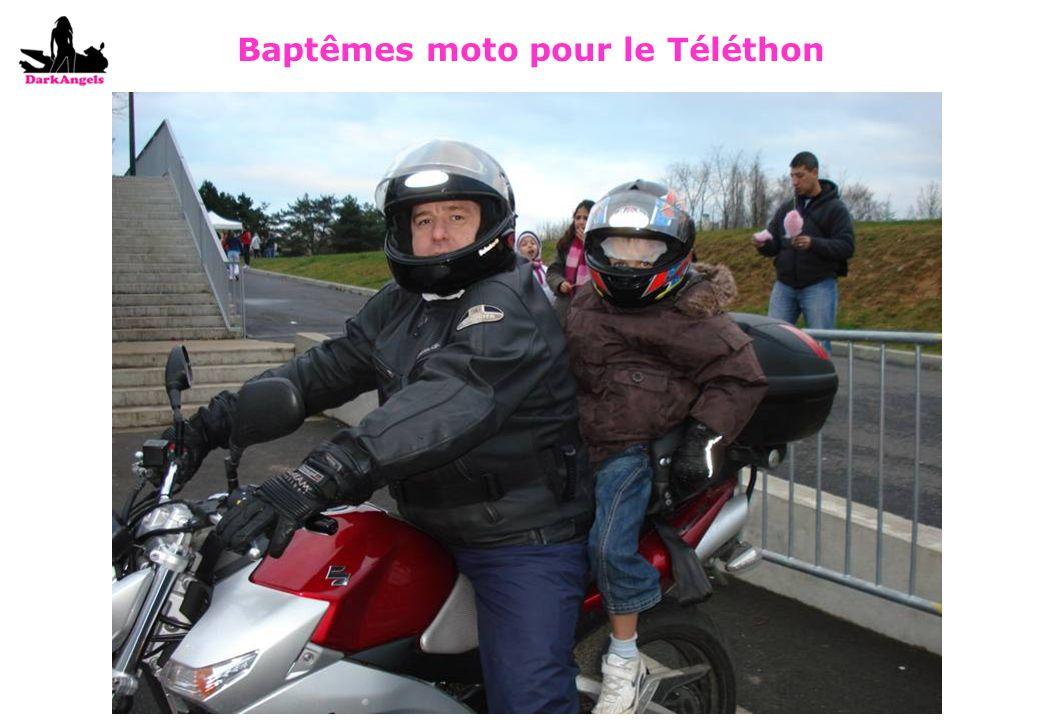Baptêmes moto pour le Téléthon