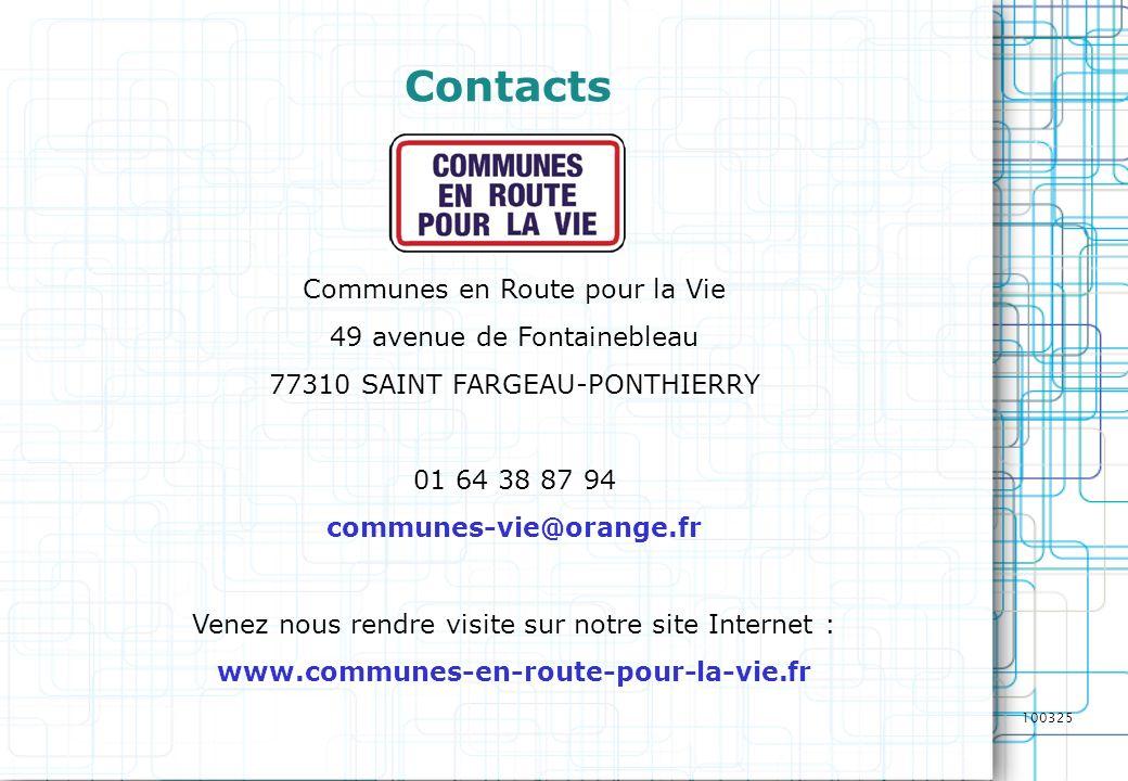Contacts Communes en Route pour la Vie 49 avenue de Fontainebleau