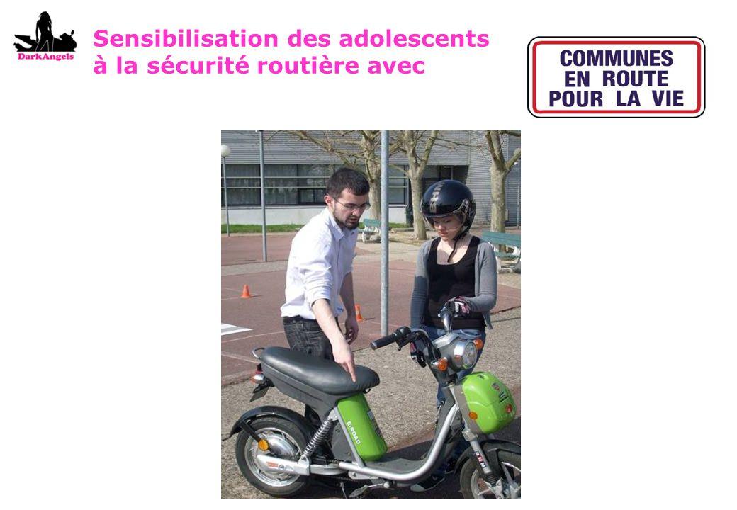 Sensibilisation des adolescents à la sécurité routière avec