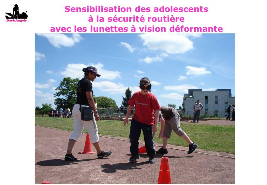 Sensibilisation des adolescents à la sécurité routière avec les lunettes à vision déformante