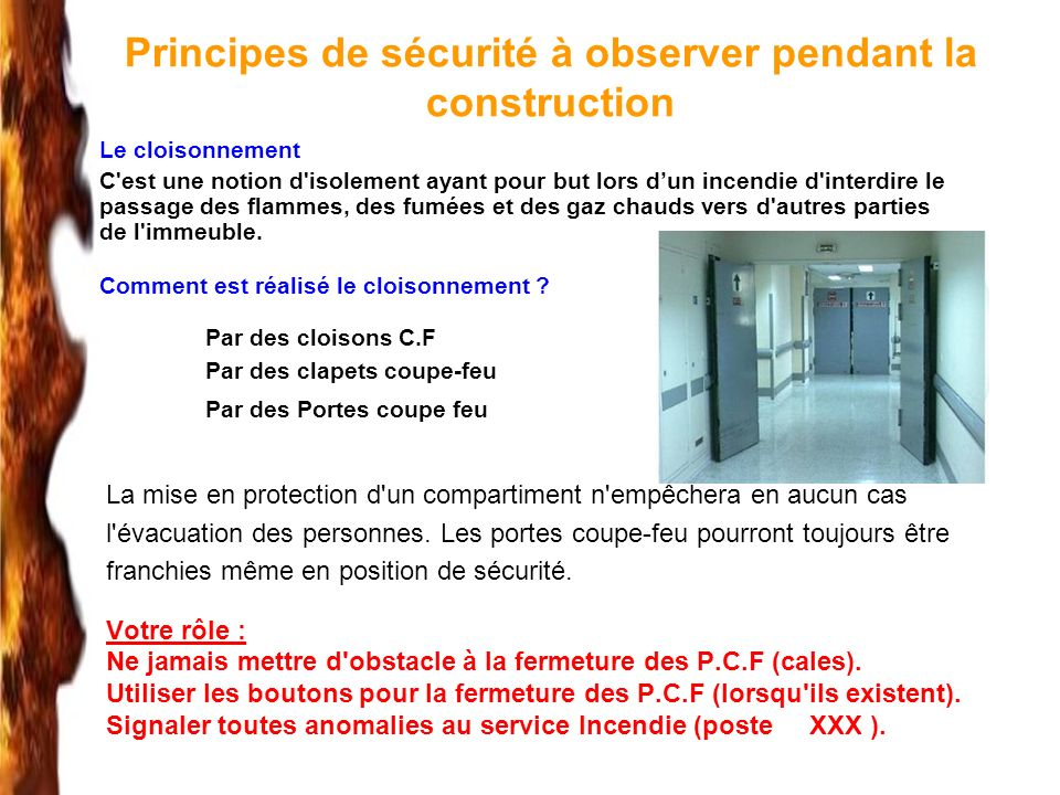 Principes de sécurité à observer pendant la construction