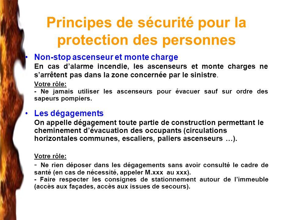 Principes de sécurité pour la protection des personnes