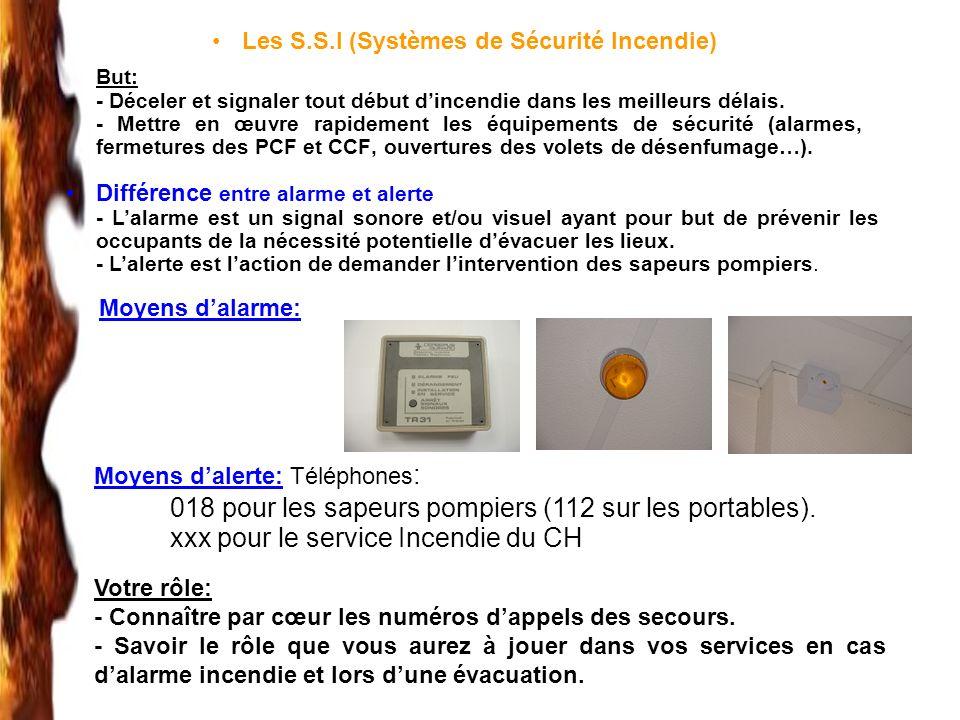 Les S.S.I (Systèmes de Sécurité Incendie)