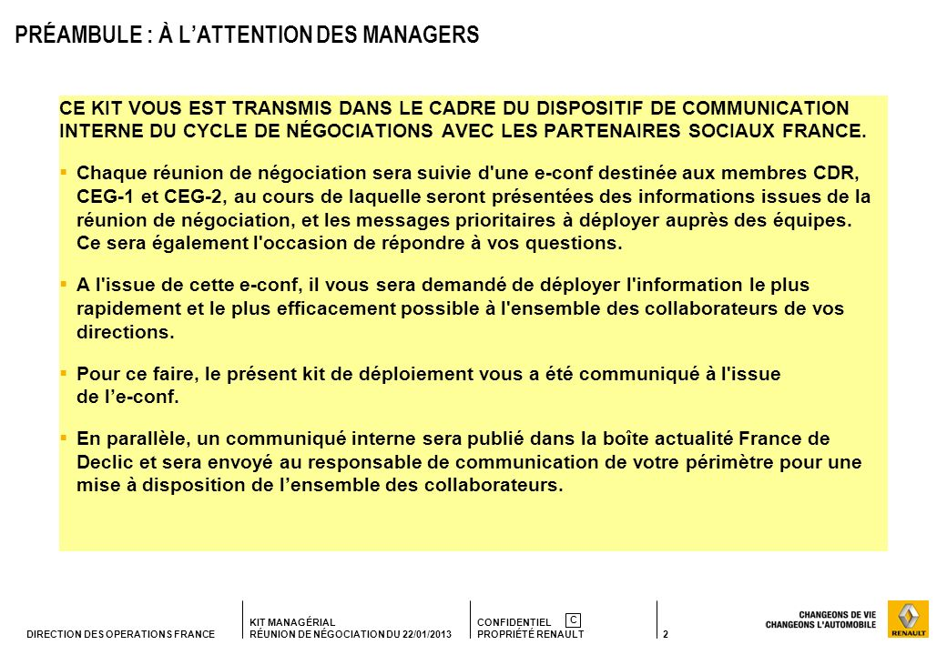 PRÉAMBULE : À L'ATTENTION DES MANAGERS