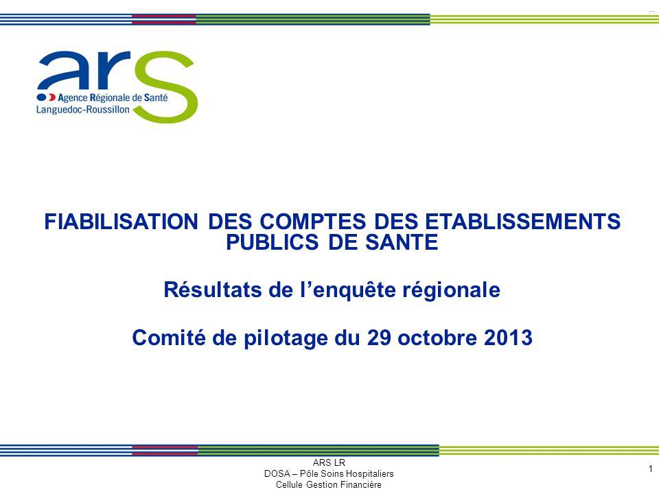 FIABILISATION DES COMPTES DES ETABLISSEMENTS PUBLICS DE SANTE