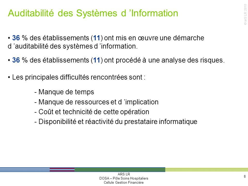 Auditabilité des Systèmes d 'Information