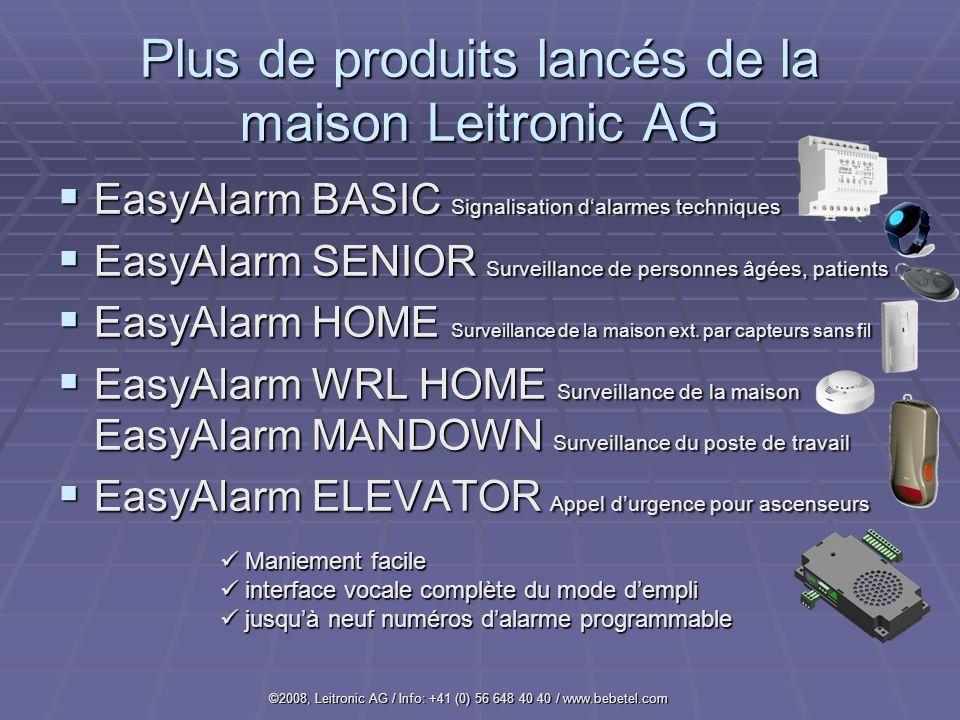 Plus de produits lancés de la maison Leitronic AG