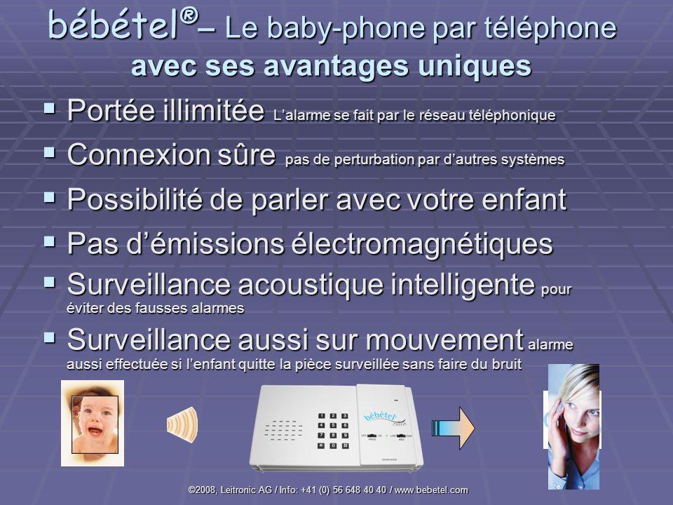 bébétel®– Le baby-phone par téléphone avec ses avantages uniques