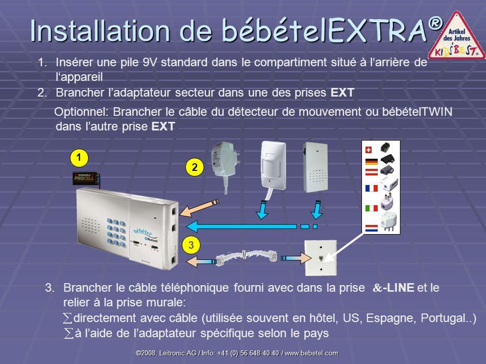 Installation de bébételEXTRA®
