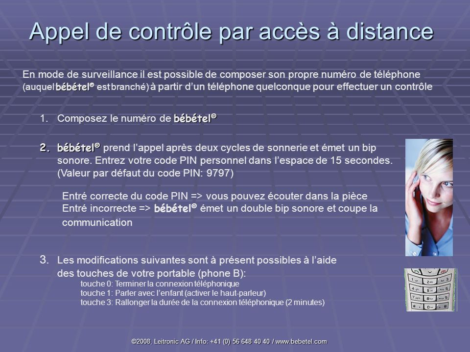 Appel de contrôle par accès à distance