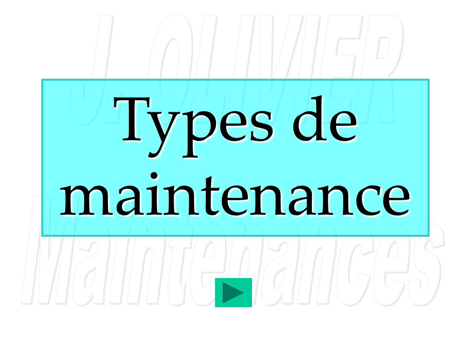 Types de maintenance 1