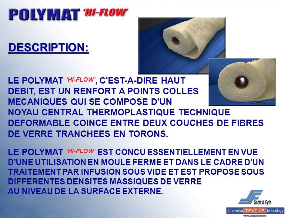 DESCRIPTION: LE POLYMAT 'HI-FLOW', C EST-A-DIRE HAUT