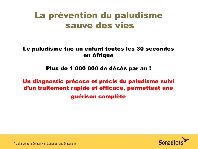 La prévention du paludisme sauve des vies