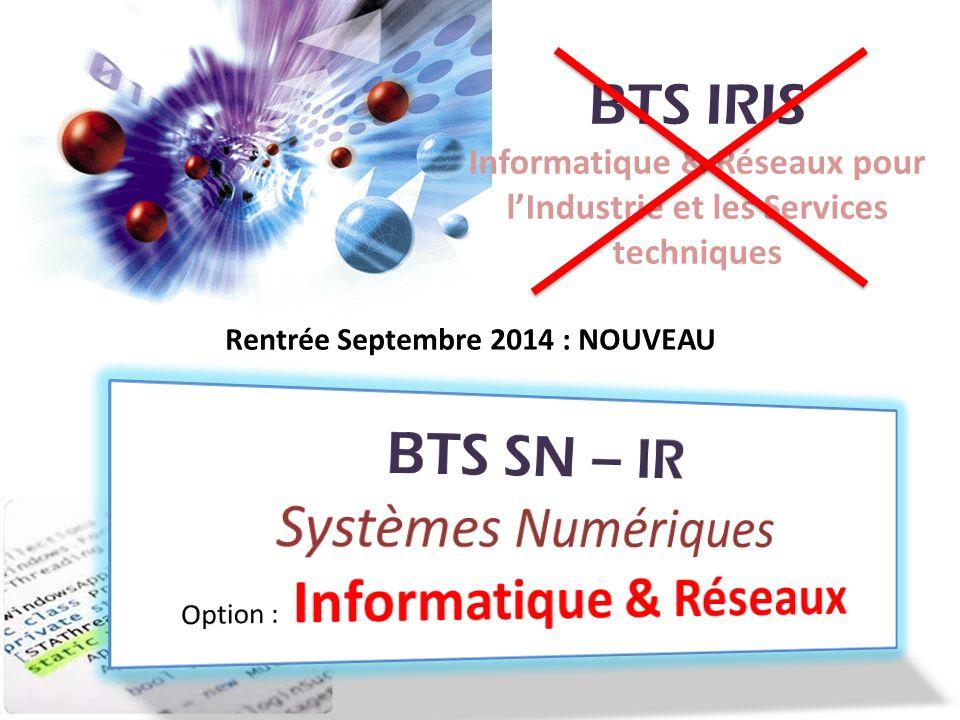 BTS SN – IR Systèmes Numériques Option : Informatique & Réseaux