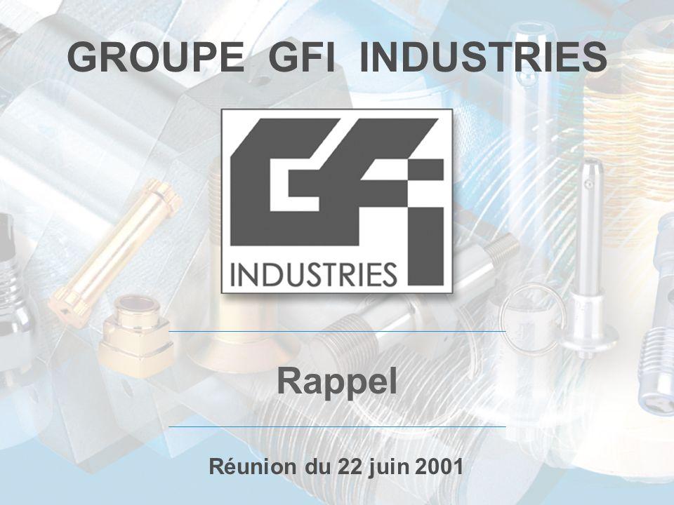 GROUPE GFI INDUSTRIES Rappel Réunion du 22 juin 2001