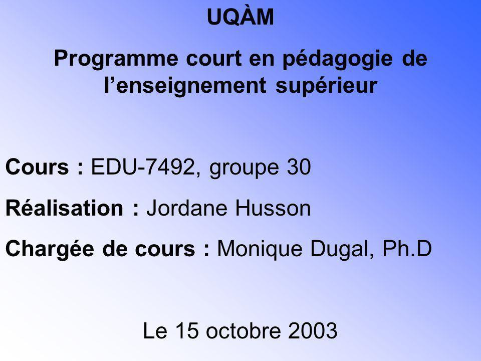 Programme court en pédagogie de l'enseignement supérieur