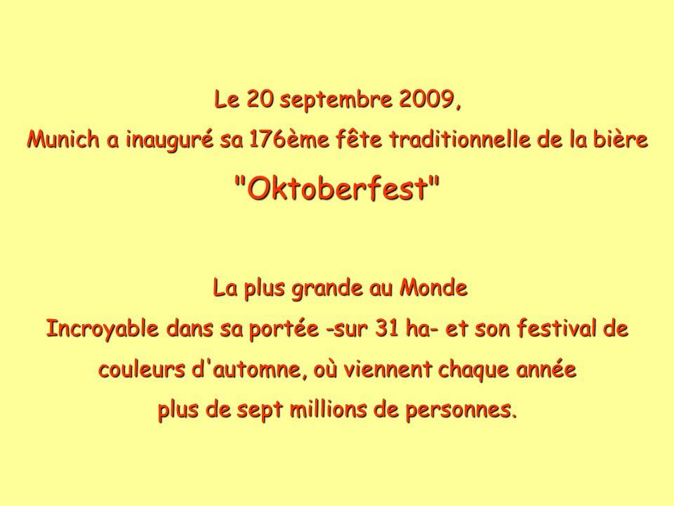 Oktoberfest Le 20 septembre 2009,