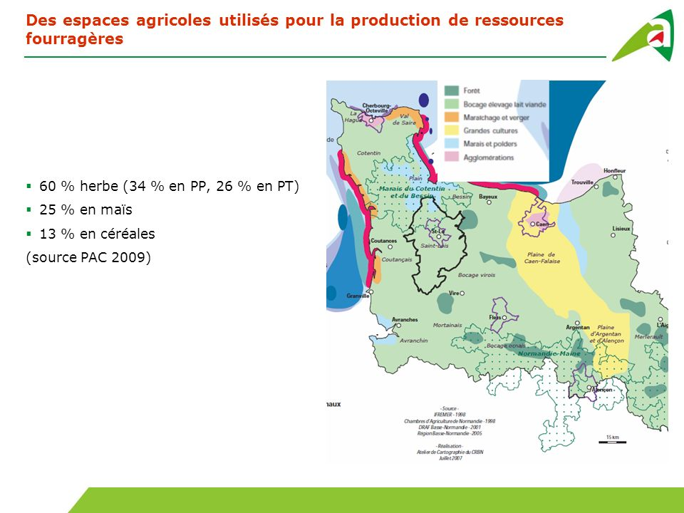 Des espaces agricoles utilisés pour la production de ressources fourragères
